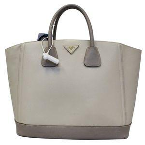 PRADA Saffiano Lux Bicolor Tote Bag